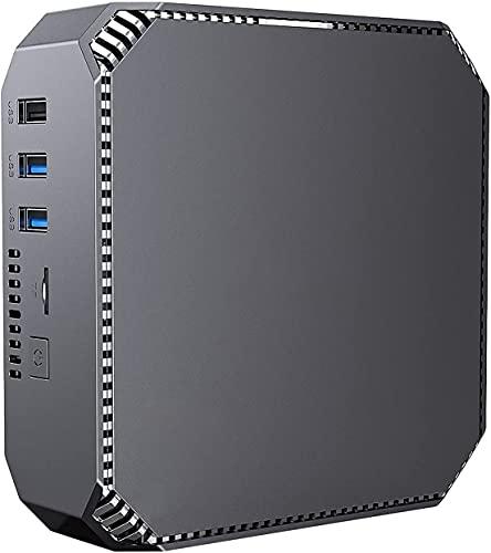 NiPoGi Mini PC,Inter Celeron J3455 Prozessor, 8GB RAM+128GB ROM Window 10 Pro Mini Ordenador, Soporte Dual Band WiFi 2.4G/5G,4K HD, Gigabit Ethernet,2.5 Pulgadas SATA HDD/SSD…