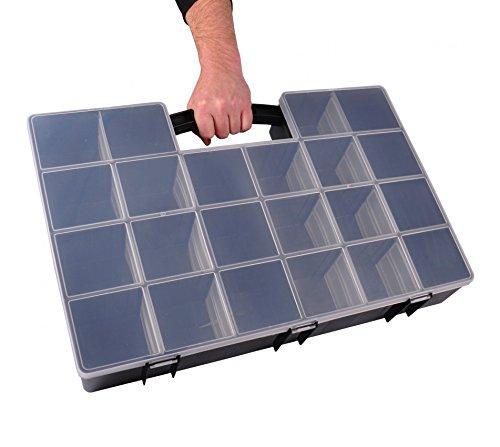 XXL Organizer 59x39,5x10cm Sortimentskasten Schraubenbox Bastelbox Aufbewahrung