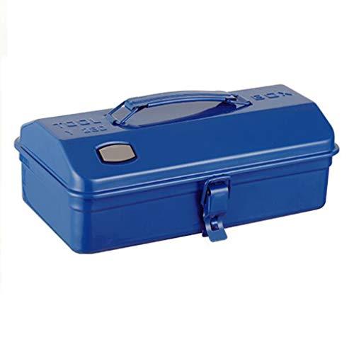 Cajas de Herramientas y Materiales Caja De Herramientas Caja De Almacenamiento De Metal para El Hogar Multifunción Caja Vacía Caja De Herramientas Portátil (Color : Blue, Size : 28 * 15 * 11cm)