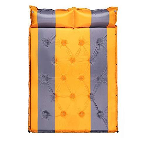 Colchón Inflable automático, colchoneta y Almohada para Dormir para Acampar al Aire Libre, colchoneta portátil Ultraligera para Dormir para Dos Tiendas de campaña Prueba de Humedad de 5 cm de Espesor