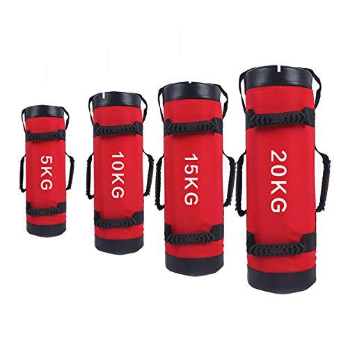 YZBBSH Sacs De Sable pour Le Fitness, Sacs De Sable D'entraînement Lesté Réglables Bag pour Équipement De Gymnastique À Domicile, Équipement De Musculation,Rouge,20kg
