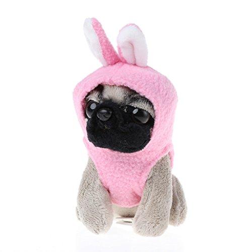 Lustiger niedlicher Regenmantel Mops-Hund Puppe Hund Tasche Schlüsselanhänger Kinderspielzeug Geschenk Einheitsgröße 6