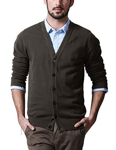 Match Men's Shawl Collar Cardigan Sweater (US L (Tag Size 2XL), Z1522 Taupe)
