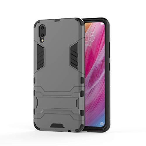 VIVO V11 Hülle, SsHhUu Stoßsichere Dual Layer Hybrid Tasche Schutzhülle mit Ständer für VIVO V11 / V11 Pro 2018 (6.41 Zoll) Gray