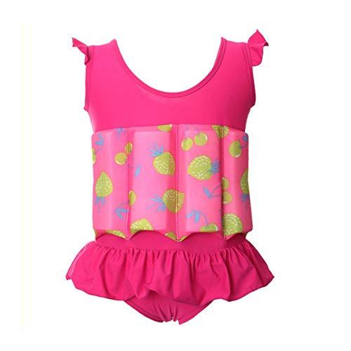 upxiang - Traje de baño para niña recién nacido - Disfraz completo para bañarse en la playa - Flotabilidad ajustable - Disfraz de verano para niña de 0 a 5 años Rosa 2 años