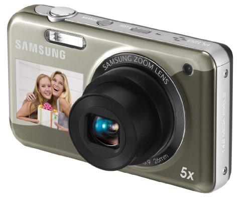 Samsung PL120 Digitalkamera (14,2 Megapixel, 5-Fach Opt. Zoom, 6,85 cm (2.7 Zoll) Bildschirm, bildstabilisiert) Silber