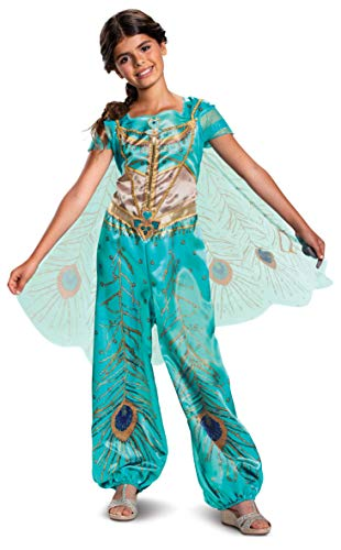 Disney Princess Jasmine Aladdin Classic Girls' Costume, Teal
