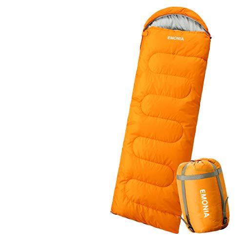 EMONIA 寝袋 封筒型 シュラフ コンパクト 軽量 防水 オールシーズン 連結可能 アウトドア キャンプ 登山 防災 車中泊 丸洗い 使用温度0~25度 夏用 冬用 収納袋付き1.9kg 2.8kg