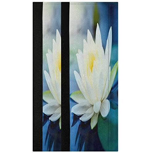 Oarencol Lotus - Juego de 2 fundas para manija de puerta, diseño de flores azules