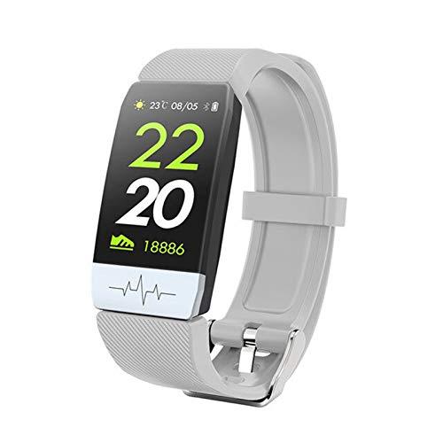 Ake Pulsera de Pantalla Inteligente Q1S ECG + PPG Tracker Fitness Pulsera Pulsera Monitor de Salud Smart Reloj Temperatura Pulsera Pulsera,C