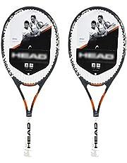 Raquetas De Tenis Raqueta para Principiantes Profesional Raqueta para Estudiantes Universitarios Masculinos Y Femeninos Entrenamiento De Rebote con Cuerda (Color : Gray-B, Size : 27in)