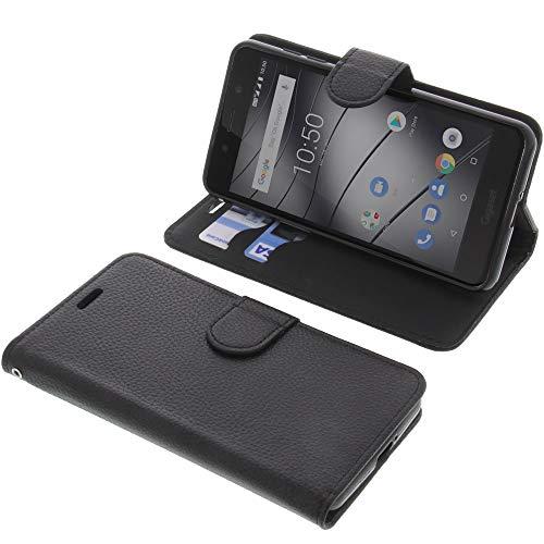 foto-kontor Tasche für Gigaset GS180 Book Style schwarz Schutz Hülle Buch