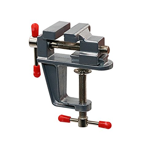 Tanjin Mini Jeweler Table Clamp Small Hobby Bench Vice Jewelers Hobby Clamps Craft Table Repair Tool Portable Work Bench Vise