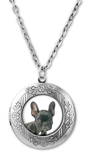 Merchandise for Fans Foto-Medaillon/Amulett für eigenes Foto mit Cabochon 20mm - Motiv: Französische Bulldogge (04)