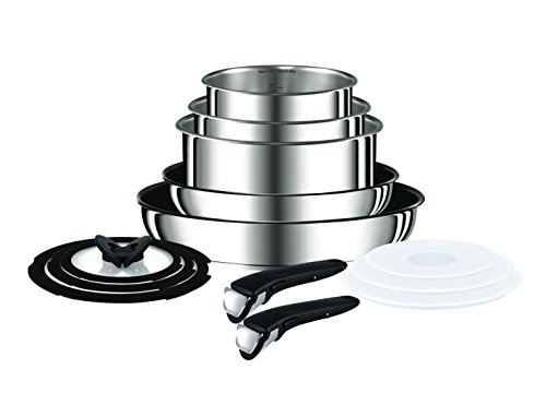 Tefal Ingenio Preference Stainless Steel 13 Pieces Cookware Set, Silver, L9409042
