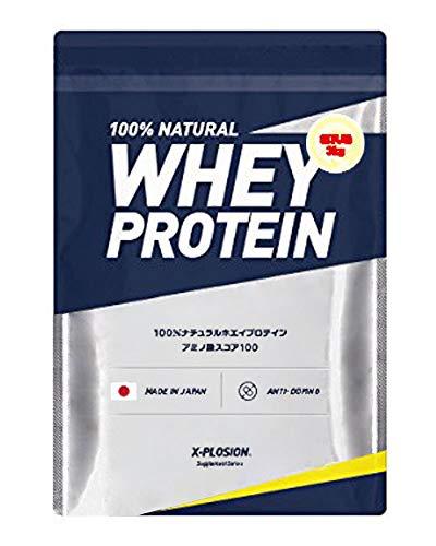 エクスプロージョン ホエイプロテイン 3kg 約100食分 練乳味 大容量 国産