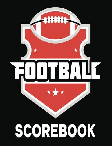 Football Scorebook: Black Cover