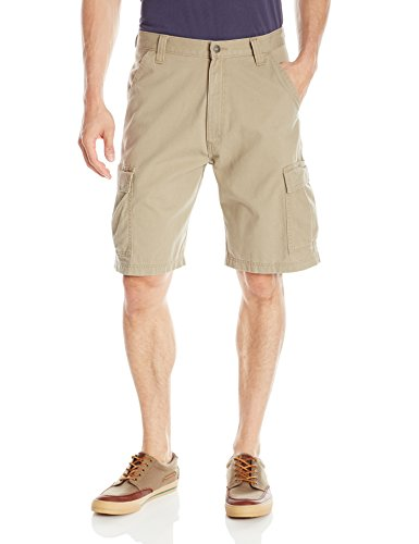 Wrangler Authentics Men's Classic Relaxed Fit Cargo Short, British Khaki Twill, 34