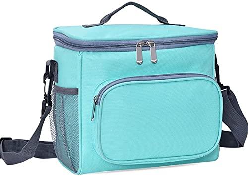 hsj LF- Bolsa de tela Oxford aislante de un solo hombro, bolsa de almuerzo de gran capacidad para exteriores, protección del medio ambiente (color: verde)