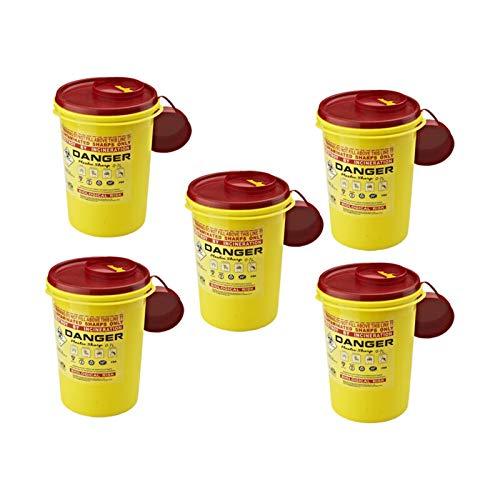 LACKINGONE 1/2/5/10 Stück Scharfkanten/Nadelbehälter, Medizinabfall, leicht, kompakt