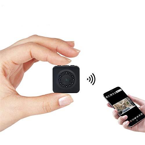 CXSD Mini cámara espía mini cámara inalámbrica 1080p mini cámara interior cámara de seguridad del hogar detección de movimiento cámara de vigilancia de visión nocturna (sin tarjeta de almacenamiento)