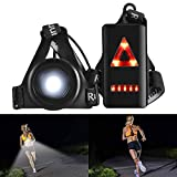 ALOVECO Outdoor Night Running Lights LED Chest Light Back Warning Light with Rechargeable Battery for Camping,...