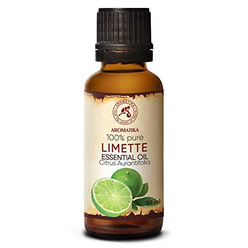 Limettenöl 30ml - Citrus Aurantifolia - Lime Ätherisches Öl - Rein & Natürlich - Limette Ätherisches Öl für Diffuser - Aromatherapie - Hautpflege - Entspannung - Raumduft - Duftlampe - Limeöl