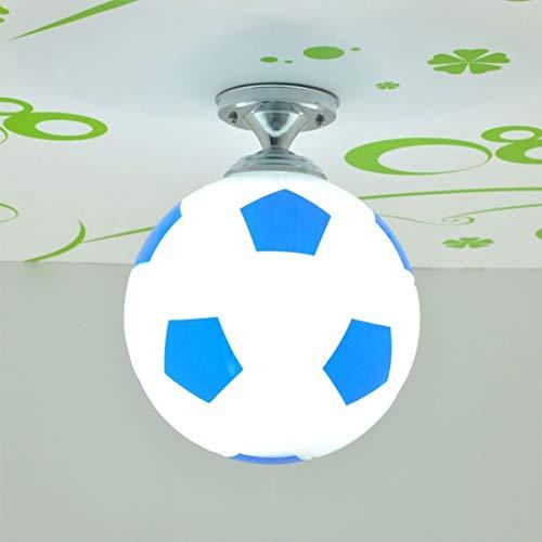 Decoratieve verlichting Creative Living Room Restaurant Cafe Voetbal Shape LED Lamp Dome Light, Diameter: 20cm (zwart) Opknoping Lamp (Color : Blue)