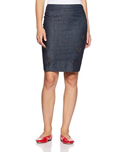 ARMANI JEANS Women's Kilt Skirt (VWG28-5G-15_Blue_2)