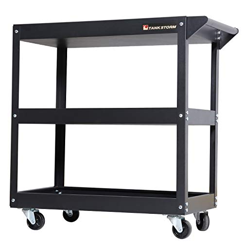 TANKSTORM Service Tool Cart 3-Tire Rolling, Industrial Commercial Service Cart-180 Lbs Capacity, No Drawer Included(TQ112)