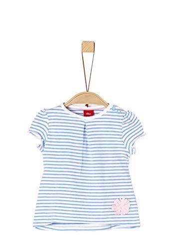 s.Oliver s.Oliver Baby-Mädchen 65.903.32.5434 T-Shirt, Blau (Blue Stripes 53g0), (Herstellergröße: 68)
