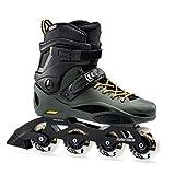 Rollerblade RB 80 Pro Skates Black,Adults Unisex, Black/Dark Green, 230