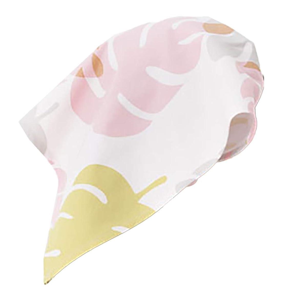 知人版アレンジ【ネコポス発送200円】【SA0034】三角巾(モンステラ?ピンク)【日本製】