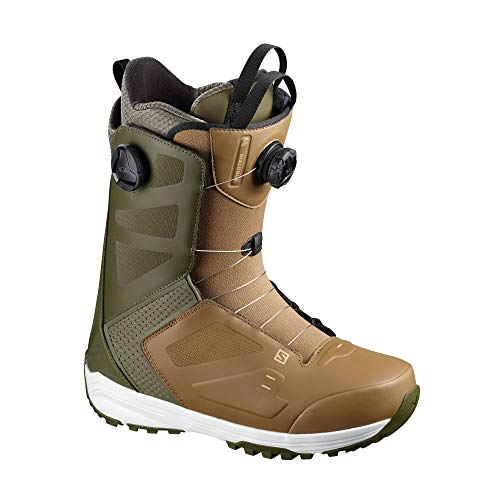 SALOMON Dialogue Dual Boa Snowboard Boots 42.5 EU Olive Night Otter Starfish