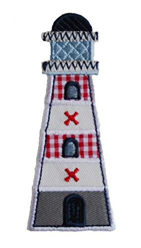 TrickyBoo 2 patches voor vuurtoren, 4 x 9 cm, muis 6 x 11 cm, om op te strijken, borduursel voor kleding, jeans, jas, kinderen, baby, dames, met motief Zürich Zwitserland voor Frankrijk