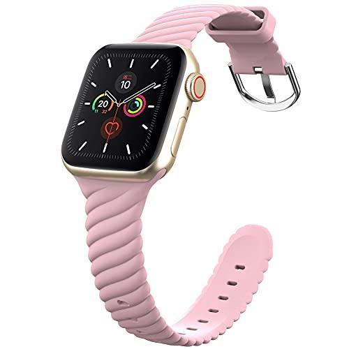 DGDD Relojes con Correa 38/40mm Mujer - Reloj Inteligente Hombre, Correa de Repuesto Reloj, Correa de Acero Inoxidable, Compatible con Apple Watch 123456 se Universal,Pink 38/40mm