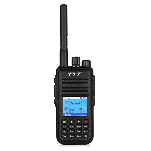 TYT MD-380 DMR Digital Radio, VHF Two Way Radio Walkie Talkie, Transceiver Compatible with Mototrbo, Up to 1000 Channels, with Color LCD Display, Cable and 2 Antenna (High Gain One included)