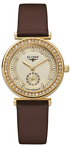 Elysee 44007 Maia Edelstahl vergoldet Quarz Damenuhr