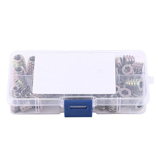 Einschraubmutter, 50 Stück M4 / M5 / M6 / M8 / M10 Zinklegierung Einschraub-Sechskant-Einschraubmuttern Sortiment