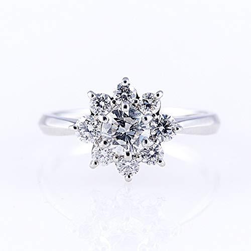 [GEMHOUSE彩]カナディアンダイヤモンドリング 計1.00ctUP [PT950] 専用ケース付 8号