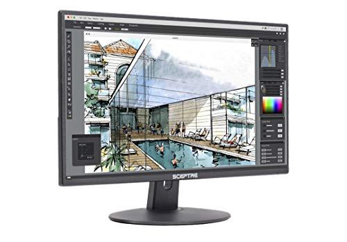 """Sceptre E205W-1600 20"""" 75Hz Ultra Thin LED Monitor HDMI VGA Build-in Speakers, Metallic Black (2018 version)"""