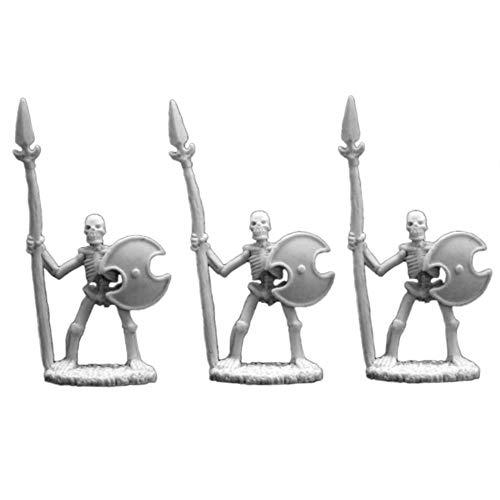 Skeletal Spearmen (3) - Dark Heaven Bones Miniature by Reaper