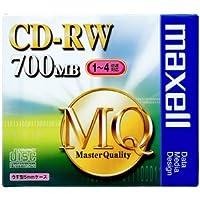 maxell データ用 CD-RW 700MB 4倍速対応 1枚 5mmケース入 CDRW80MQ.S1P