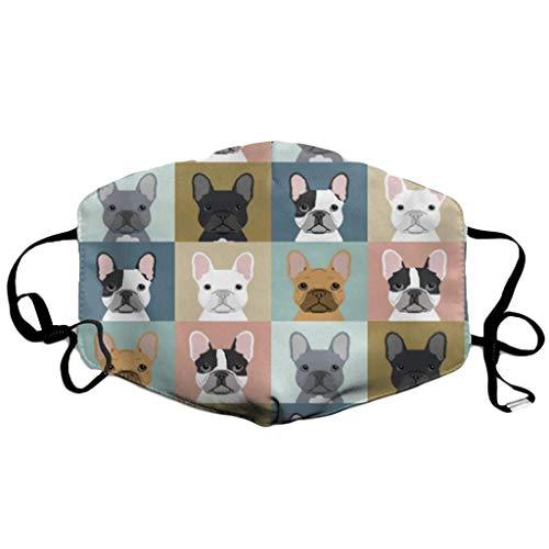 NEEKY Herren Damen Mund Hund Tiermotiv 3D mit Motiv Katze Print Waschbar Mehrweg Multifunktionstuch Mund und Nasenschutz Atmungsaktiv Halstuch Bandana Stoff