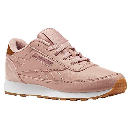 Reebok Women's Classic Renaissance Walking Shoe, Chalk Pink/Brown Malt/White/Gum/Silver, 5 M US