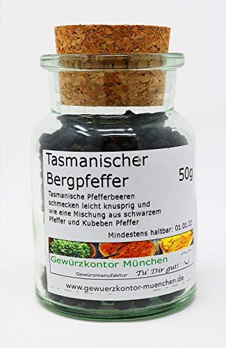 Tasmanischer Bergpfeffer 50g im Glas Gewürzkontor München