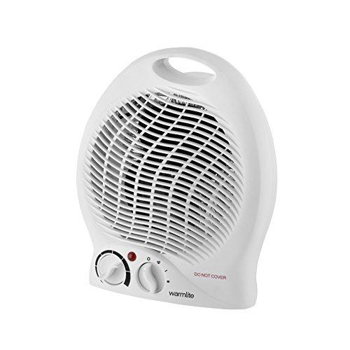 Warmlite Portable Upright Fan Heater, Adjustable Thermostat, Overheat...