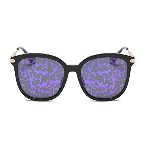 KDXBCAYKI Personalidad Ojos de Gato Gafas de Sol de señora Lentes polarizadas Protección TR90 UV Completa para Conducir Diseño clásico de Alta Gama de Moda (Color : Púrpura)