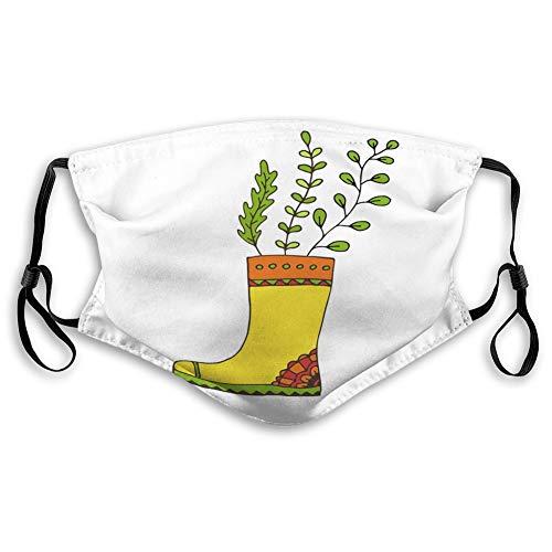 Na Wiederverwendbare Nasenclip-Maske, verstellbare Außenmasken Garten-Gummistiefel drucken niedlichen Gartenaufkleber eine bequeme Masken