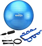 OLIVIA & AIDEN Exercise Ball Set - 65cm Anti-Burst Balance Ball for Yoga, Pilates, Birthing, Stability...